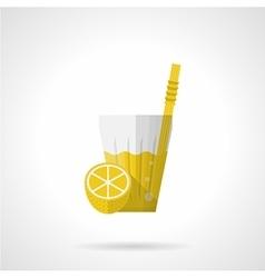 Lemonade flat color icon vector image