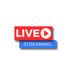 live stream tv logo icon vector image