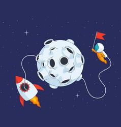 Lunar landing mission vector