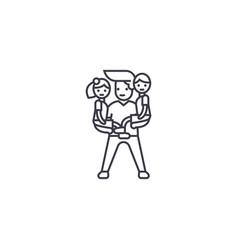 Man babysitter line icon sign vector