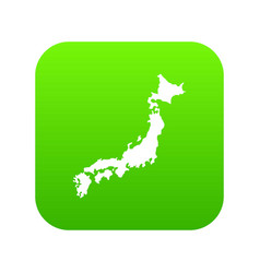 map of japan icon digital green vector image