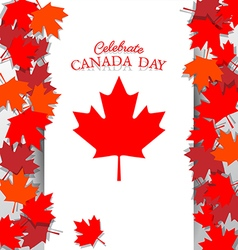 maple leaf and text for celebrate national day vector image