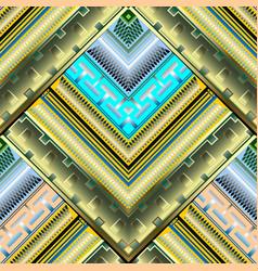 modern geometric 3d seamless pattern ornate vector image