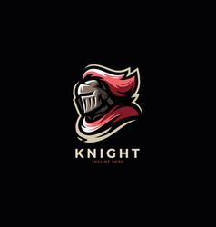 modern professional knight logo design template vector image
