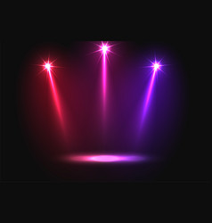 Music party three vibrant falling focus light vector