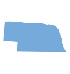 nebraska state map vector image