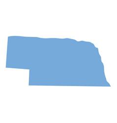 Nebraska state map vector
