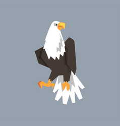 North american bald eagle character symbol of vector