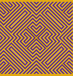 Optical motion seamless pattern yellow purple vector