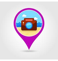 Photo Camera pin map icon Summer Vacation vector