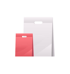 plastic bags two polyethylene or paper packages vector image