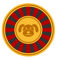 Puppy roulette flat icon vector