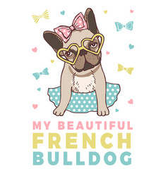 retro poster with of funny french vector image