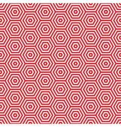 Retro red seventies pattern vector