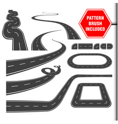 Roadcurves perspectives turns twists loops vector