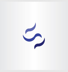 s logo letter blue icon negative space symbol vector image