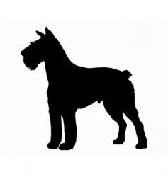 Schnauzer silhouette vector