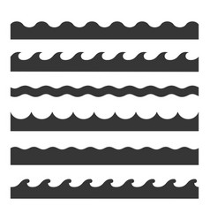 Seamless wave pattern set template vector