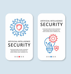 security brochure design with sheild logo vector image