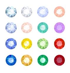 Set gemstones vector image