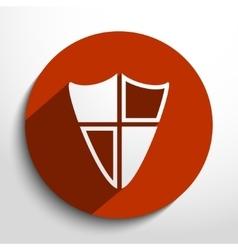 Shield web icon vector