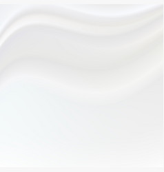 silky white background with waves vector image