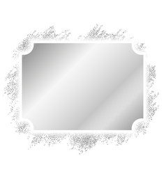 silver frame beautiful glitter design vintage vector image