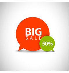 Speech bubble pointers for big sale vector