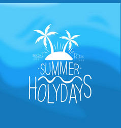 summer holidays template design element can be vector image