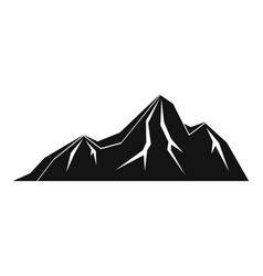 tall mountain icon simple style vector image