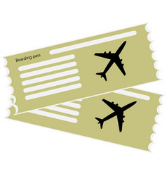the blank ticket plane icon vector image