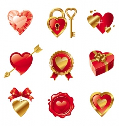 Valentine's symbols vector image