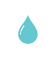 Water drop icon on a white background vector