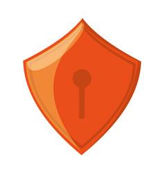 web security padlock shield vector image