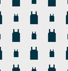 Working vest icon sign Seamless pattern with vector image