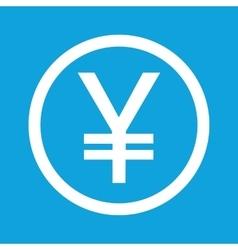 Yen sign icon vector image