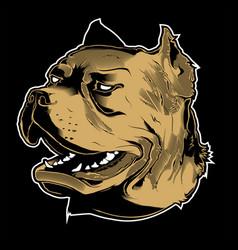 angry pitbull vector image
