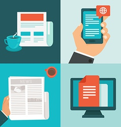 news concepts in flat style vector image vector image