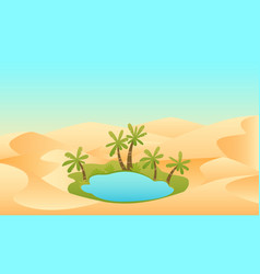 oasis in the desert vector image