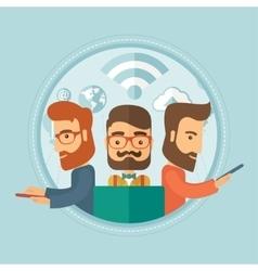 Businessmen taking part in global business vector image vector image