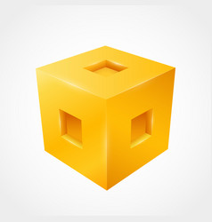 three-dimensional cube clean vector image