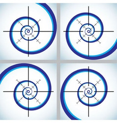 Abstract crosshair vector image vector image