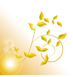 banner with yellow leaves vector image