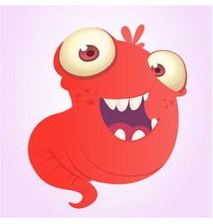 funnny cartoon blob slimy monster laughing vector image vector image
