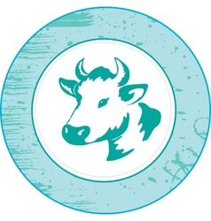 Icon of a cow vector image