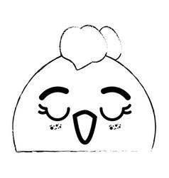 kawaii chicken icon image vector image