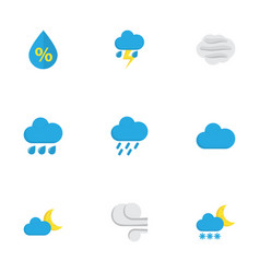 Nature flat icons set collection of drop vector