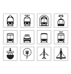 Public vehicles icons set vector image vector image