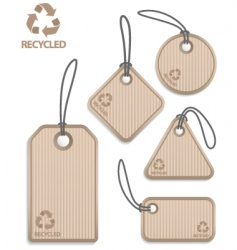 recycled paper tags vector image vector image