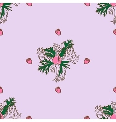 Seamless pattern with bud anemone vector image vector image
